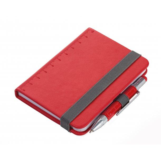 Multifunktionel mini-notesbog og -kuglepen LILIPAD+LILIPUT